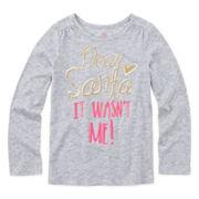 Okie Dokie® Long-Sleeve Holiday Tee - Preschool Girls 4-6x