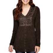 Unity™ Long-Sleeve Lattice Peasant Top