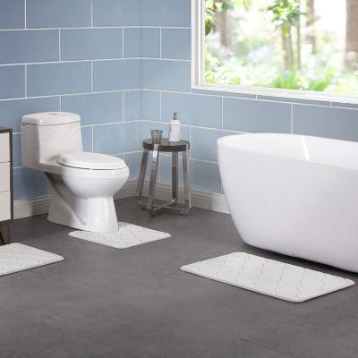 Vcny 3 Piece Memory Foam Bath Rug Set