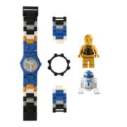 LEGO® Kids Star Wars C-3PO & R2-D2 Minifigure Watch Set