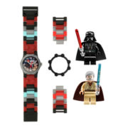 LEGO® Kids Star Wars Darth Vader & Obi-Wan Minifigure Watch Set