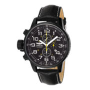 Invicta® Mens Lefty Black Chronograph Watch
