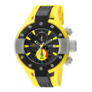 Invicta® S1 Rally Mens Black & Yellow 20ATM Chronograph Watch