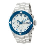 Invicta® Pro Diver Mens Silver-Tone & Blue Chronograph Watch