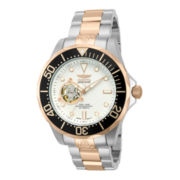 Invicta® Grand Diver Mens 18K Rose Gold-Plated 30ATM Two-Tone Watch