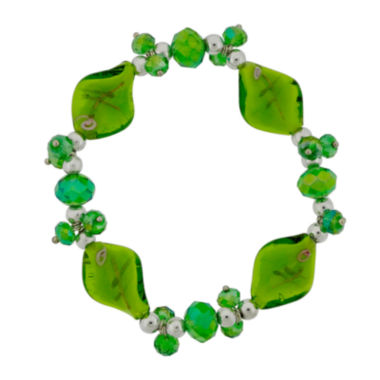jcpenney.com | Dazzling Designs™ Green Artisan Glass Stretch Bracelet