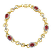 Classic Treasures™ Lab-Created Ruby & Diamond Accent Bracelet