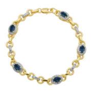 Genuine Sapphire & Diamond Accent Bracelet