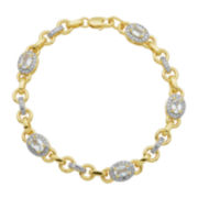 Genuine White Topaz & Diamond Accent Bracelet