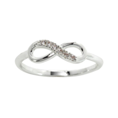 jcpenney.com | city x city® Pure Silver Plated Crystal Infinity Ring