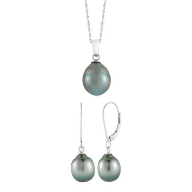 jcpenney.com | Black Tahitian Pearl Pendant Necklace & Earring Set