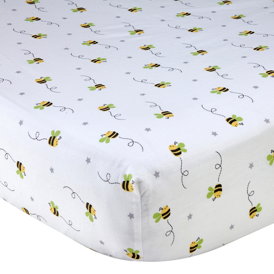 ebf8ca189701f WENDY BELLISSIMO Wendy Bellissimo Honey Bee Fitted Crib Sheet on ...