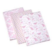 Wendy Bellissimo™ 3-pk. Gracie Flannel Blankets