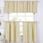 Updated Ticking Kitchen Curtains