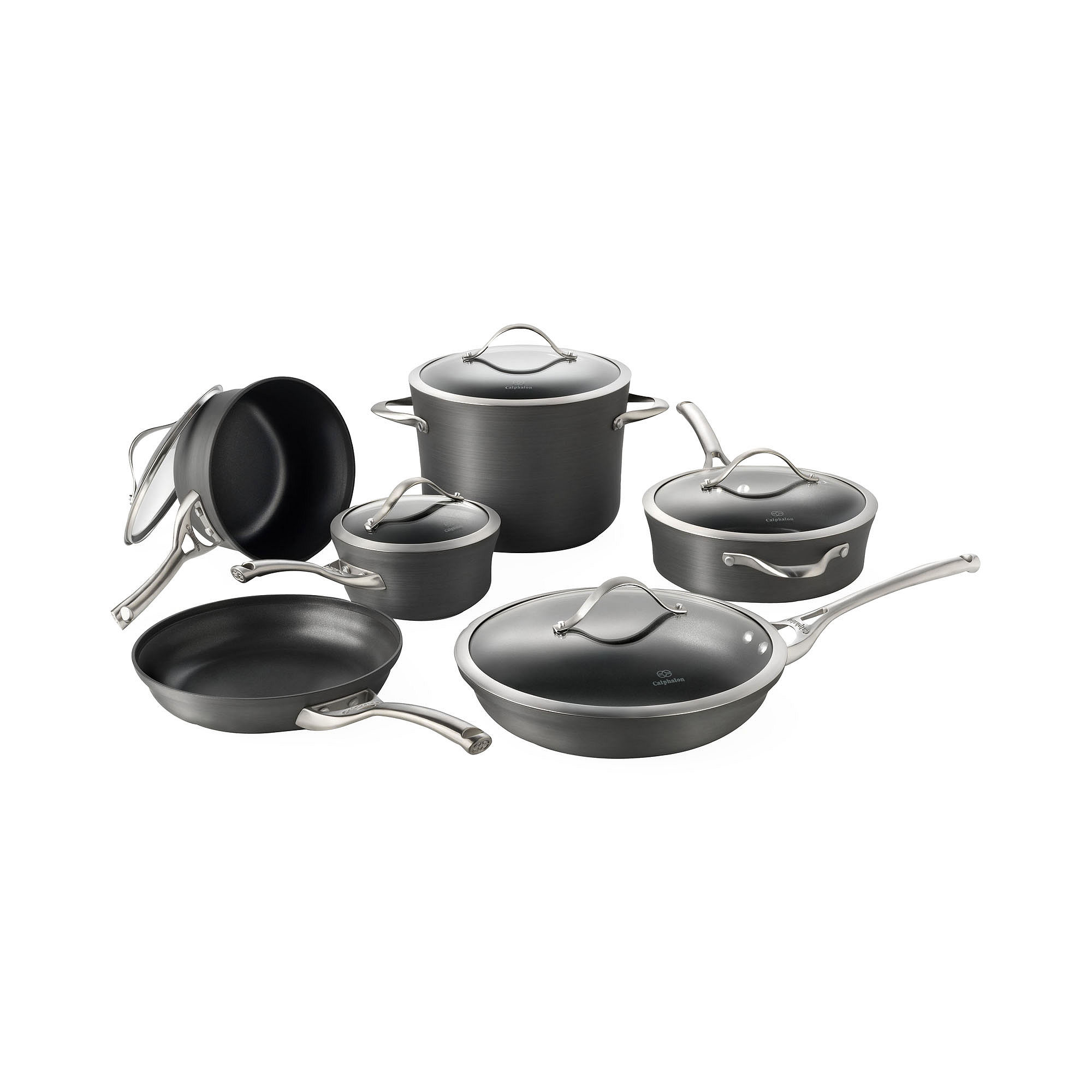 Cheap tramontina gourmet 12 pc tri ply clad 18 10 for La cuisine 29 x 26cm cast iron grill pan