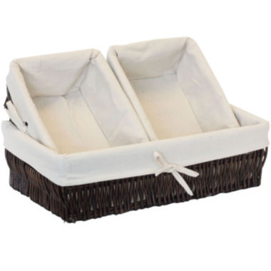 jcpenney.com | Baum-Essex 3-pc. Willow Storage Basket Set