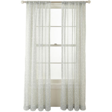 jcpenney.com | MarthaWindow™ Dynasty Rod-Pocket Sheer Panel