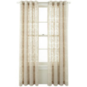 MarthaWindow™ Graceful Garden Grommet-Top Sheer Panel