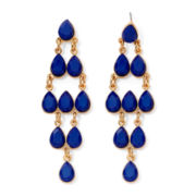Mixit™ Gold-Tone Blue Chandelier Earrings