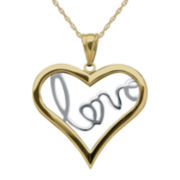 Infinite Gold™ 14K Two-Tone Gold Love Inside Heart Pendant Necklace