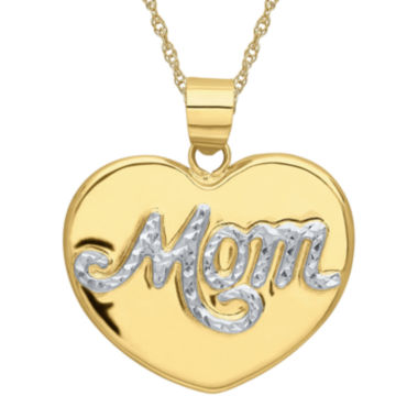 jcpenney.com | Infinite Gold™ 14K Two-Tone Gold Mom Pendant Necklace