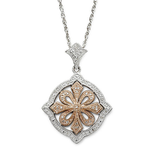 Vintage Inspirations™ 1/5 CT. T.W. Diamond Pendant Necklace