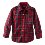 OshKosh B'gosh® Long-Sleeve Button-Front Plaid Shirt – Boys 2t-4t