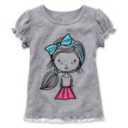 Okie Dokie® Short-Sleeve Rib-Knit Tee - Girls 2t-6