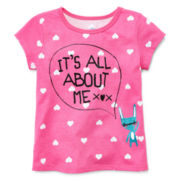 Okie Dokie® Short-Sleeve Graphic Tee - Girls 2t-6