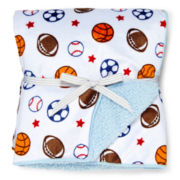 Carter's® Sherpa Sports Blanket - Boys