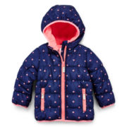 Carter's® Hooded Fleece-Lined Coat – Girls 12m-24m