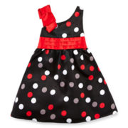 Disorderly Kids Multi-Dot Bridal Dress - Girls 2t-6