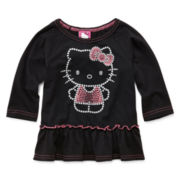 Hello Kitty® Glitter Peplum Top - Girls 2t-6
