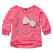 Hello Kitty® Raglan French Terry Top - Girls 2t-6