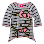 Hello Kitty® 3/4-sleeve Sharkbite Top - Girls 2t-6