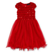 Disorderly Kids Sequin Mesh Dress - Girls 2t-6