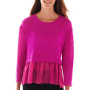 Olsenboye® Long-Sleeve Ruffle Crop Top
