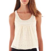 Arizona Sequin Lace Tank Top