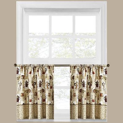 Coffee Shoppe Rod-Pocket Window Tiers