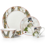 Mossy Oak® Snowman Holiday 16-pc. Porcelain Dinnerware Set