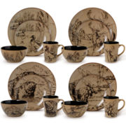 Mossy Oak® 16-pc. Stoneware Dinnerware Set