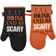 Ladelle® Halloween Toil & Trouble Set of 2 Oven Mitts