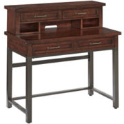 Mountain Lodge Distressed Student Desk and Hutch