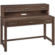 Weatherford Distressed Executive Desk and Hutch