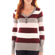 St. John's Bay® Long-Sleeve Henley Sweater