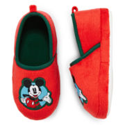 Disney Mickey Mouse Slippers – Boys 2t-5t