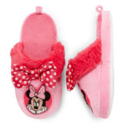 Disney Pink Minnie Mouse Slippers – Girls 2t-5t