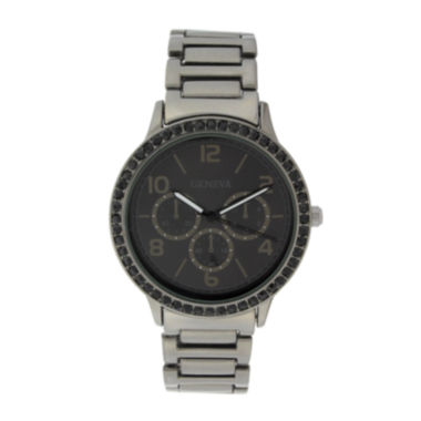 jcpenney.com | Geneva Womens Multifunction-Look Gunmetal Bracelet Watch