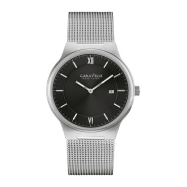 jcpenney.com | Caravelle New York® Mens Stainless Steel Mesh Watch 43B145