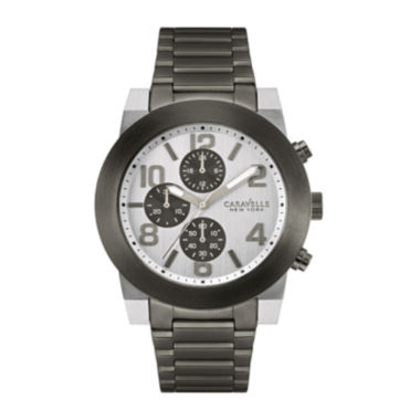 jcpenney.com | Caravelle New York® Mens Gray Stainless Steel Watch 45A127
